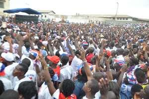 The gargantuan crowd
