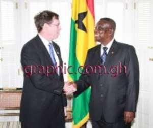 President Mills meet Patrick Fine at Blair House