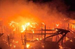 Fire destroys Konkomba market