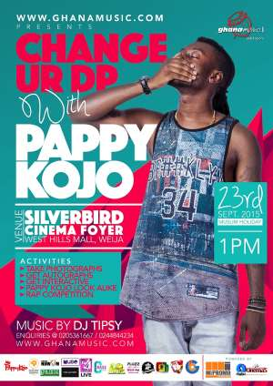 Change Your DP With Pappy Kojo Slated For 23rd September 2015
