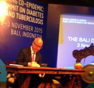 Indonesia Signs The Historic Bali Declaration Targeting The Looming TB Diabetes Co-Epidemic