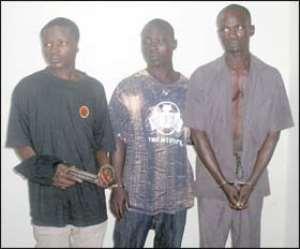 From left: Peter, 28, McFish, 27, and Abayeshika, 40
