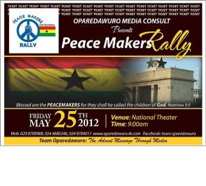 PEACE MAKERS RALLY SLATED FOR MAY 25TH
