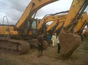 One of the stolen Sany excavators found at Dworwulu