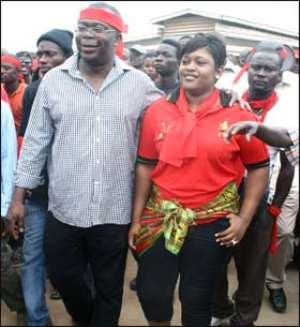 Stephen Asamoah Boateng and his wife, Zuleika