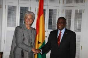 IMF President, Christine Largarde with President Mills before their meeting