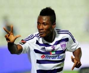 Ghana captainAsamoah Gyan