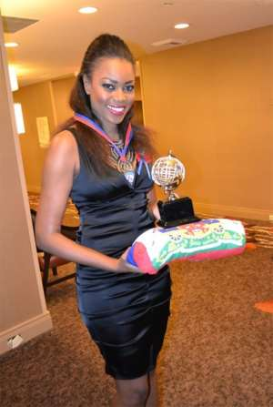Ghanaian Actress Yvonne Nelson Wins 5-Continent Academy Award In New York
