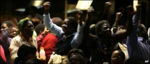 Mr Mugabe's supporters disrupted the conference minutes after it had begun