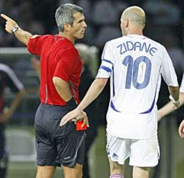 Zidane's headbutt was too late to stop him winning the Golden Ball