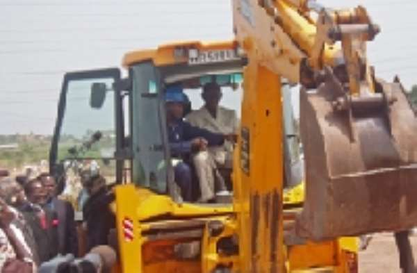 President launches Kumasi roads and urban development projects