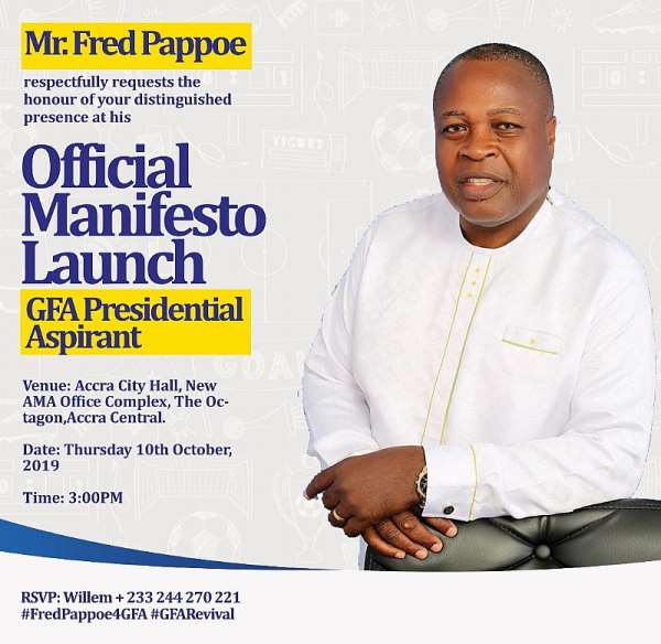 GFA Elections: Fred Pappoe To Unveil Manifesto Today