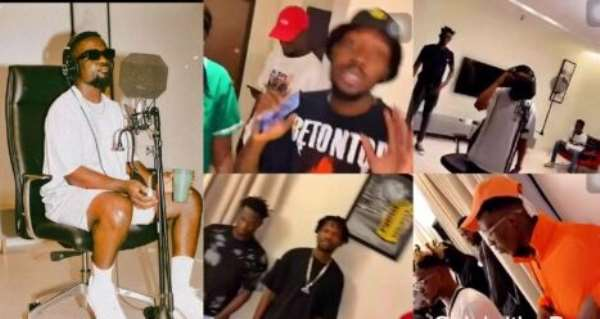 Sarkodie Features Fameye, KiDi, J-Derobie, Tulenkey, And Quamina MP On An Upcoming Music Project (Video)