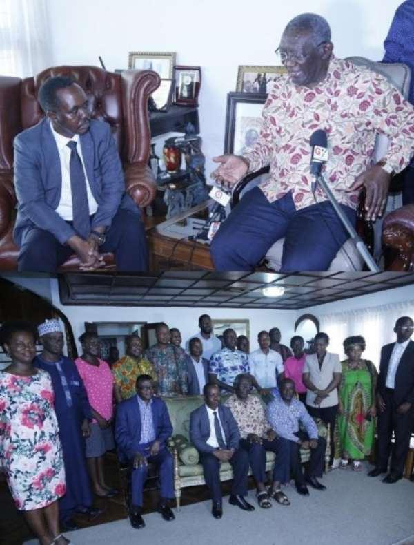 Former President Kuffour Urged ARAP To Revolutionize Rice Farming