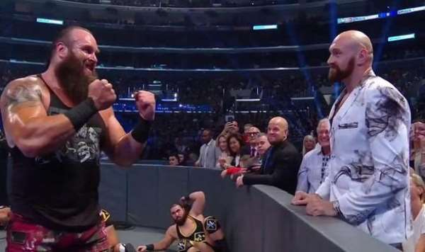 Tyson Fury has shared a rivalry with Braun Strowman during appearances on WWE