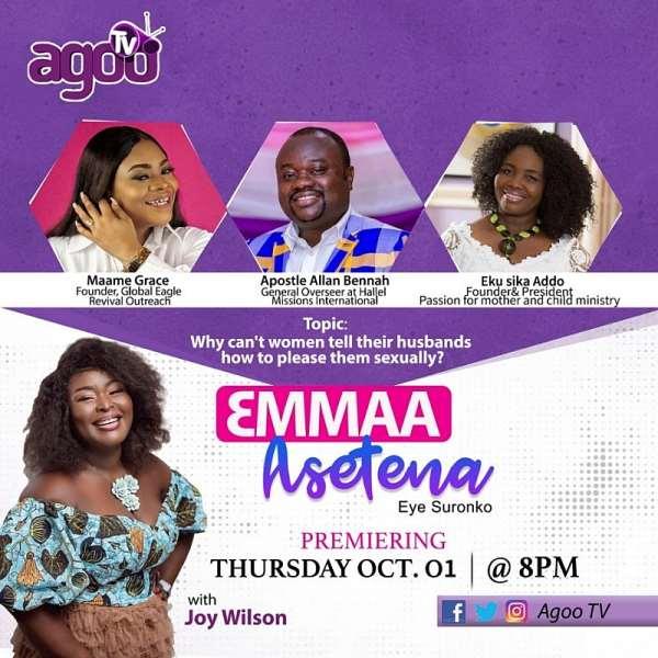 AGOO TV Rolls Out New Program Dubbed 'EMMAA ASETENA', Premieres Oct 1