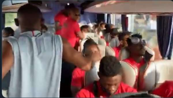 VIDEO: Watch The Mood In Ghana's Team Bus Ahead Of Qatar Friendly