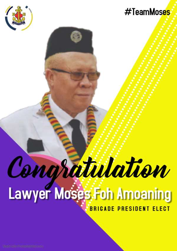 Moses Foh Amoaning Elected President Of Ghana Boys Brigade