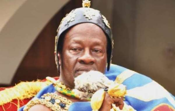 The Paramount Chief of the New Juaben Traditional Area in the Eastern region, Dasebre Oti Boateng