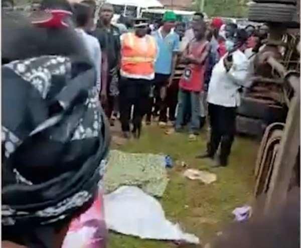A/R: Cargo Truck crushes hawker to death at at Ahenema Kokoben