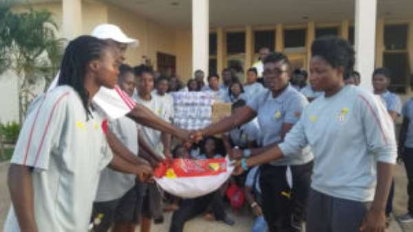 Retired Women Footballers Make Donations To Black Queens Ahead Of AWCON