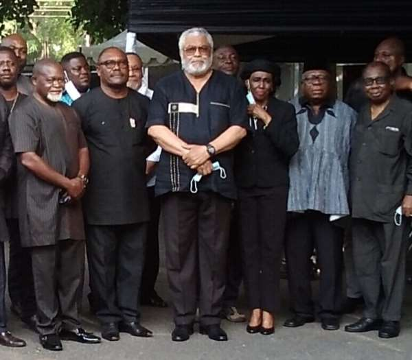 Azumah Nelson Commiserates With Former President Rawlings And Agbotui Family