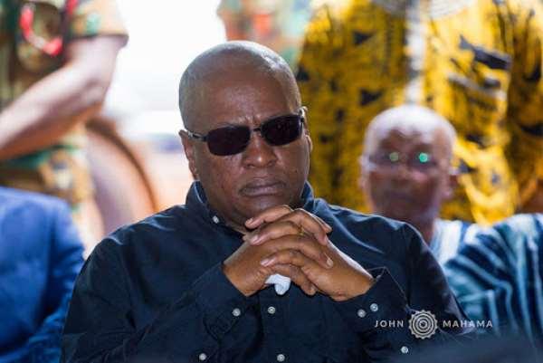 Mahama Commiserates With Slain Mfantseman MP's Family