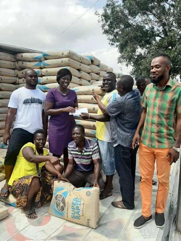 Ablekuma North: Sheila Bartels Donate Towards Repair Of Street