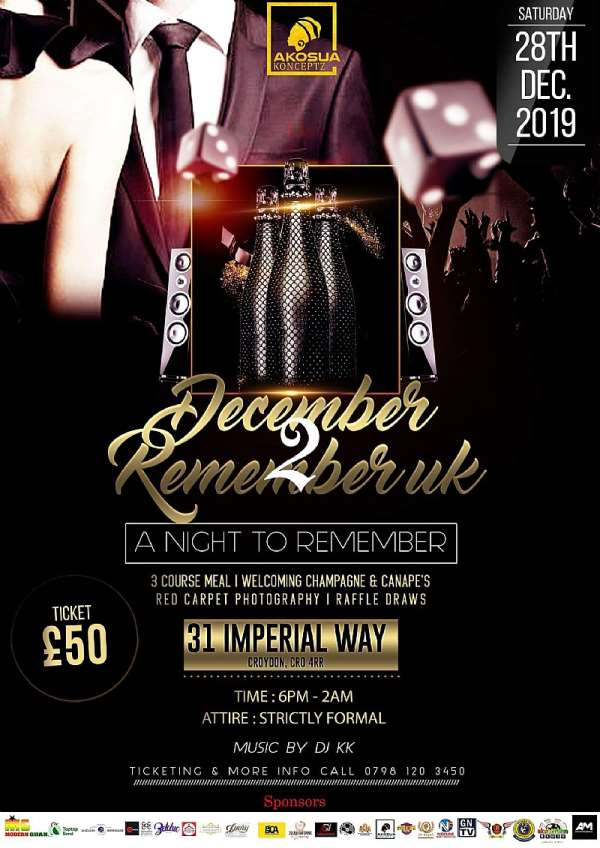 """AKOSUA KONCEPTZ launches 3rd edition of """"December to Remember"""" UK"""
