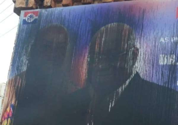 Upper Denkyira East: NPP Supporters Vex, Accuses NDC Of Pulling Down Party Posters