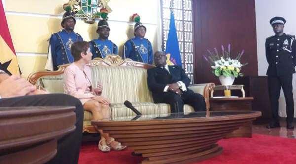 EU Ambassador Presents Letter Of Credence To President Akufo-Addo
