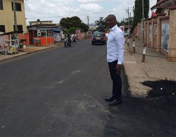 One of the roads at Ayawaso Central Constituency