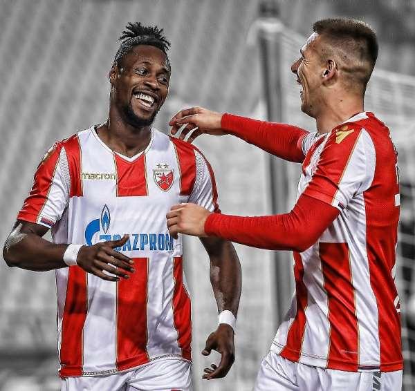 Boakye-Yiadom Scores A Twice In Red Star Belgrade's 3-1 Win Over Rad Beograd [VIDEO]