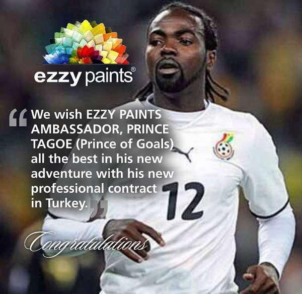 Ex-Black Stars striker Prince Tagoe named Brand Ambassador for Ezzy Paints