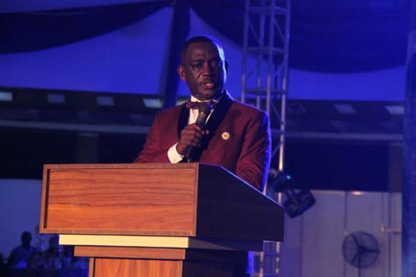 COP Alex Mensah, Police Director General of Operations addressing guests at the GIJ 60th anniversary dinner and gala night. PICTURES BY BENEDICT OBUOBI