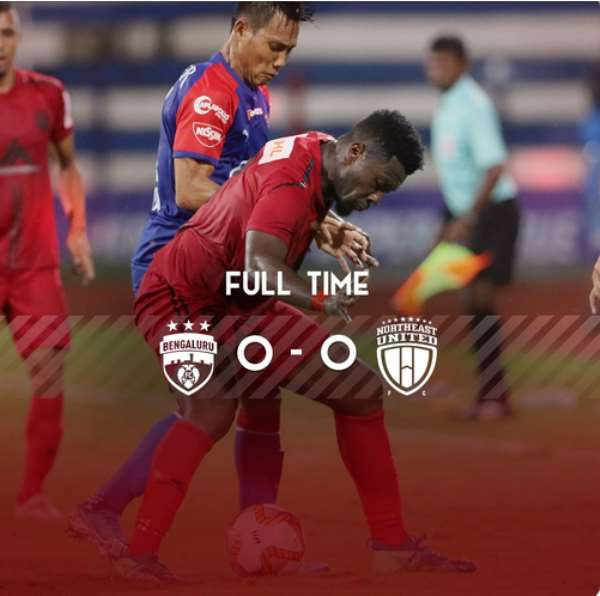 Asamoah Gyan Features As NorthEast United Draw Goalless With Bengaluru