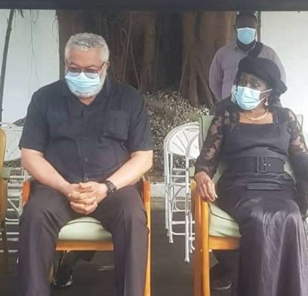 Former President Rawlings and his wife