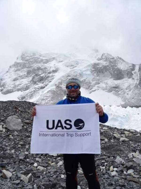 Mr Omar Hosari at Base Camp, Mount Everest, last year