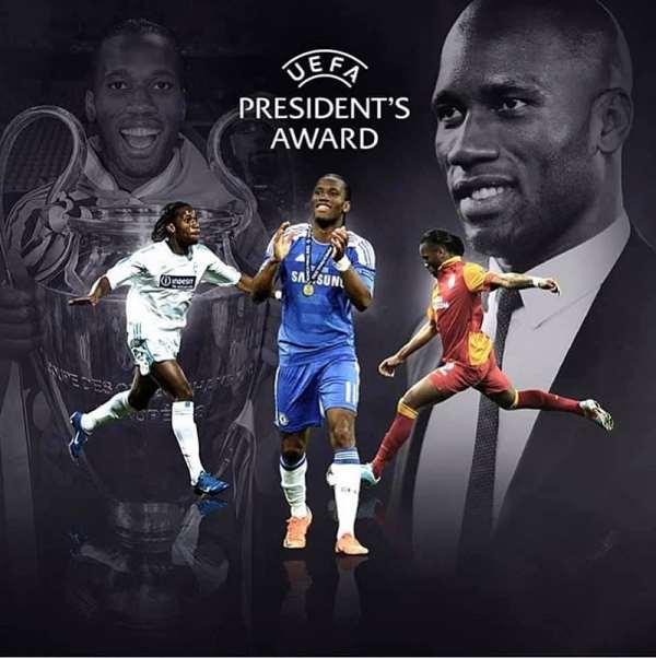 Drogba Proud Of UEFA Award And Recalls Munich Glory