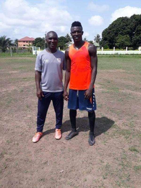 Hearts of Oak head coach Edward Nii Odoom [Left], Victory Kwaku Aidoo [Right]