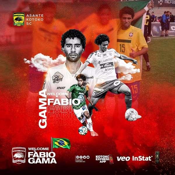 Kotoko Seal Signing Of Brazilian Midfielder Fabio Dos Santos Gama