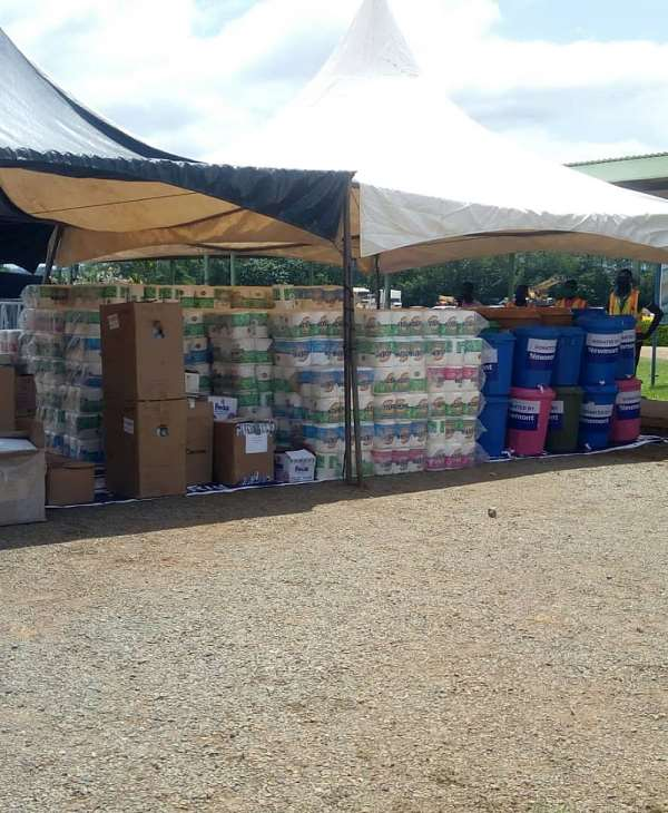 Newmont Ahafo Mines Donate Items To Institutions In Ahafo, Bono Regions