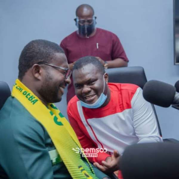 Moses Antwi-Benefo with Kotoko CEO, Nana Yaw Amponsah