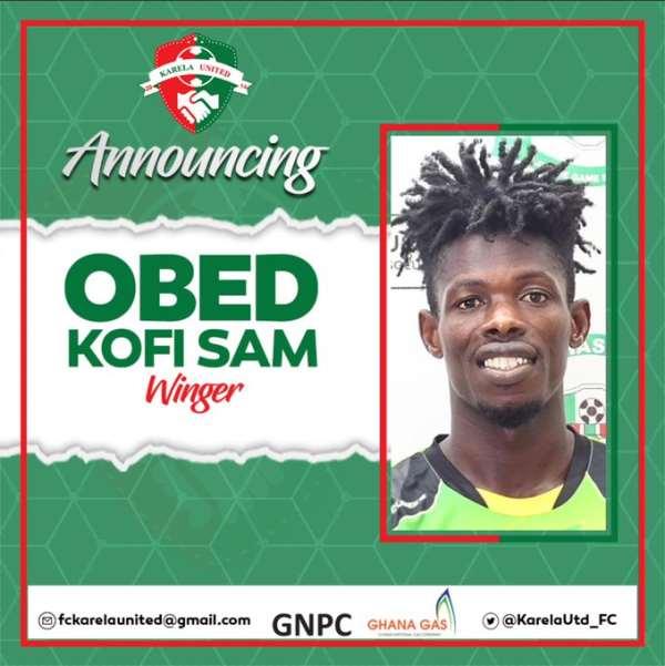 Karela Utd Announce Signing Of Attacker Obed Kofi Sam