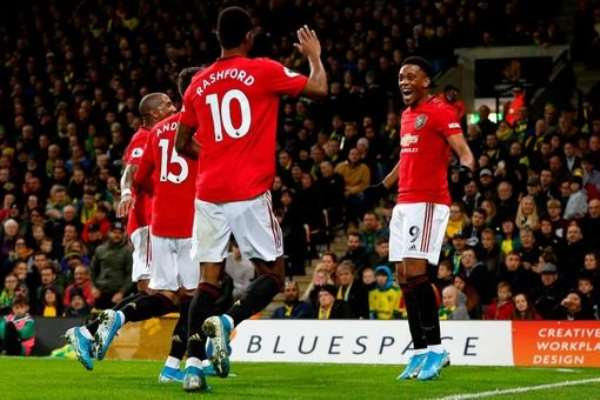 Man United Sink Norwich To Claim First Away League Win