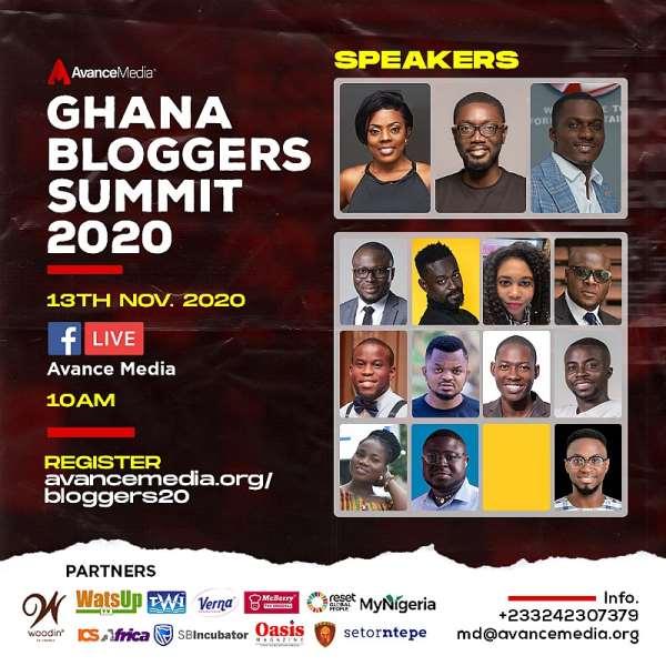 Nana Aba Anamoah, ZionFelix and Ameyaw Debrah to speak at the 2020 Ghana Bloggers Summit.