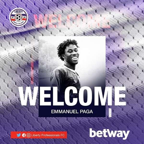 Liberty Professionals Sign Lethal Striker Emmanuel Paga From Vision FC
