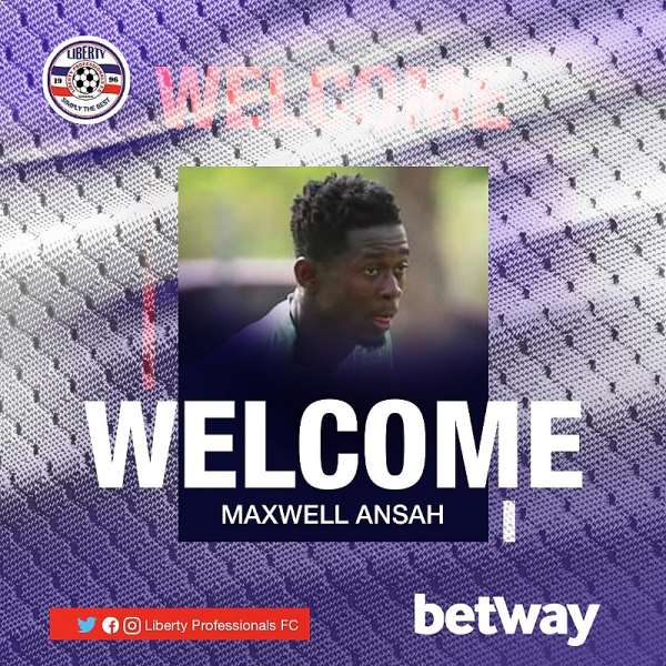 Liberty Professionals sign Defender Maxwell Ansah To Strengthen Squad