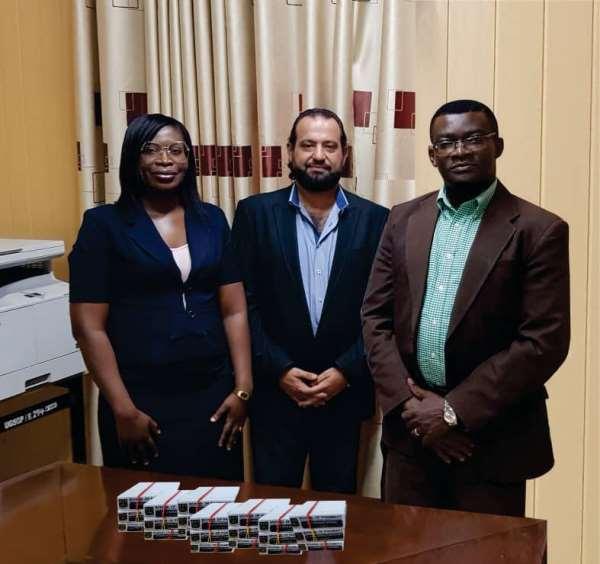 Adage Media Presents Name Tags To UG School Of Pharmacy