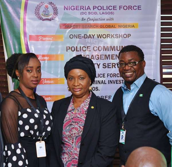 L-R Business Executive Director TSG Nig. Ltd- Blessing Nwakanma, Officer-In-Charge of the SCID- DCP Yetunde Longe, Lead Consultant Target Search Global Nigeria- Olufemi Olatunji Arotokun-Ale